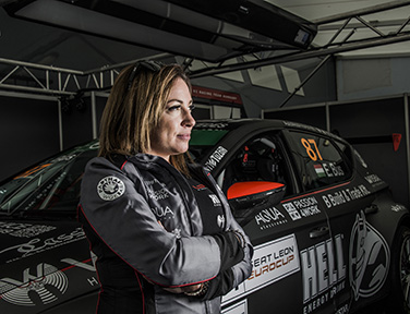 On The Track I M Neither A Man Nor Woman Race Car Driver